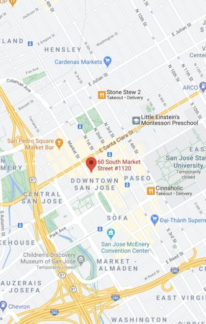 60 S. Market Street, Suite 1120 San Jose, CA 95113